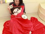 可爱麦兜猪空调毯抱枕被3用暖手靠垫生日礼物送女生20多款可选