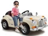 爱童老爷车儿童四轮电动汽车配摇控可坐闪灯彩灯备胎一件代发