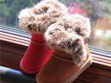 2014冬款女童鞋韩版真皮低筒短靴软底童靴宝宝雪地靴棉鞋一件待发
