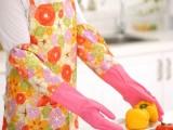 束口家务手套 橡胶乳胶手套保暖加长 清洁洗碗手套加绒加厚批发