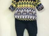 秋冬男女童毛衣双层圆领套头纯毛儿童羊绒针织打底衫童装羊毛衫潮