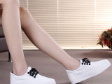 2015春季韩版白色帆布鞋女式基本款厚底板鞋批发低帮系带女鞋