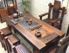 老船木茶桌椅组合小户型客厅茶台实木功夫茶几中式仿古阳台茶艺桌