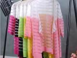 2015韩版春季新款女装开衫外套中长款宽松无扣女式针织衫薄毛衣
