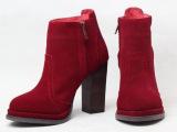 13秋冬新款欧美外贸真皮粗跟短靴 马丁靴 女靴 单靴 女式靴子批