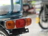 供应爬山王锂电动自行车配件LED尾灯安全指示灯 防水防震LED尾