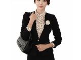 厂家直销2015春装高档职业装女套装时尚西装套裙女式正装8029