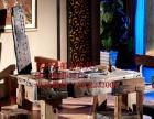昌吉市老船木家具茶桌椅子沙发茶台茶几办公桌餐桌鱼缸置物架案台