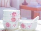 温馨碗勺套装 陶瓷韩式餐具套装 创意礼品茶花之恋 米饭碗