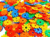 幼儿园益智小雪花片塑料拼插积木儿童益智类玩具加大加厚1-3岁
