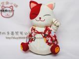工厂批发 日本原单招喜屋和风招财猫 布艺