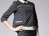 2014春夏新款  欧美大牌火爆款式时尚撞色格子套装  一件代发