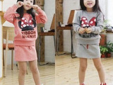 2014春季新款品牌童装韩版卡通纯棉女童童裙套装外贸出口原单批发