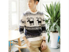 2014春季新款男式毛衣时尚韩版修身青少年小鹿毛衣
