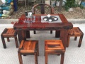 老船木实木家具船木中式茶桌茶几茶台户外茶桌椅组合船木象棋茶桌