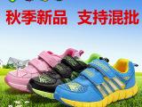 批发康迪熊秋季新款魔术贴帆布儿童运动鞋 女童鞋中童鞋耐磨低帮