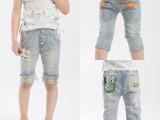 【小酷熊】2014儿童牛仔裤夏  砂洗工艺 精品童装 童裤厂家直