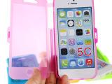 触屏翻盖手机壳 iphone5 5s手机套 苹果配件 手机保护 tpu手机套