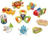 婴儿摇铃组合超大礼盒10件套装 宝宝玩具0-1岁送礼必备
