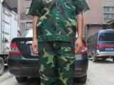 厂家低价供应迷彩半袖军训服 夏训练服