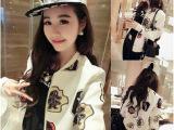 2014秋装新款韩版卡通宽松显瘦百搭长袖短款休闲薄外套棒球服外套
