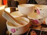 【礼品陶瓷】厂家供应陶瓷餐具 6碗6勺礼盒套碗 韩式碗勺