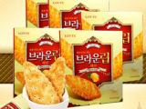 韩国进口饼干 乐天蜂蜜树叶饼干90g蜂蜜烤制 韩国进口零食