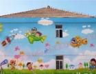 手绘墙墙体彩绘幼儿园手绘、文化墙墙绘、主题酒店古建