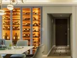 不锈钢酒架定制 简约现代美式恒温酒柜定制