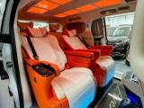深圳别克gL8改装爱马仕风格航空座椅沙发床内饰个性化改色