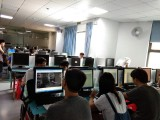 莫屋社区电脑培训班到万江天骄学校学习