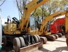 二手挖机送福利小松160-7轮式挖机亏本转让