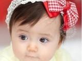 韩版红蝴蝶结婴儿童头饰发饰外贸儿童发带工厂女童宝宝发带H16