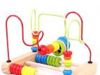 混批正品木制儿童玩具算珠串珠架早教益智玩具大号绕珠玩具过家家