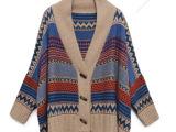 春季女装新款毛衣蝙蝠衫复古针织衫宽松毛衣开衫披肩斗篷外套