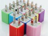 苹果3代小方块 充电器 5V 500亳安 双管 带IC 十个色质