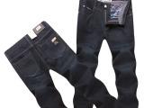经典款男装牛仔裤 2014秋冬新款 男式时尚休闲深色精品牛仔裤代