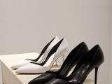 新款真皮牛皮尖头女士性感宴会派对细高跟凉鞋子外贸原单大小码