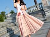 2015春夏棉麻连衣裙欧洲站中长款显瘦长裙子三件套套装 厂家直销