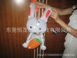 充气儿童发光玩具 充气灯笼 小白兔手持灯
