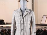 2014新款时尚型男秋装外套 男士韩版修身中长款翻领风衣5682