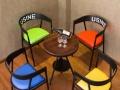 厂家销售餐厅桌椅酒吧咖啡厅复古桌椅休闲沙发实木办公桌椅