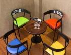 厂家销售酒吧咖啡厅休闲沙发桌椅 美式复古餐厅桌椅 欢乐迪吧台