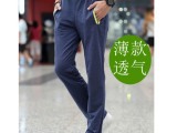 新款男装卫裤薄款全棉运动裤男式直筒男运动长裤休闲男裤批发