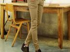 2014夏季新款休闲牛仔弹力修身卡其色韩版潮男裤子铅笔裤小脚子