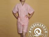 广州厂家专业制造 公寓居家粉色纯棉女士浴衣睡衣套装 来样定制