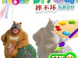 陶瓷彩绘DIY玩具批发 手工彩绘涂鸦玩具公仔 儿童动手创意玩具
