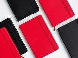 文具厂家定制A5高档皮质笔记本皮面绑带记