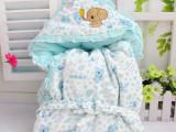 厂家直销 春款童装 婴幼儿包被 加厚连帽童抱毯  水晶绒礼盒装M