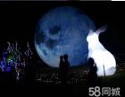 LED发光月亮出租发光玉兔供应商供应款热门道具租赁